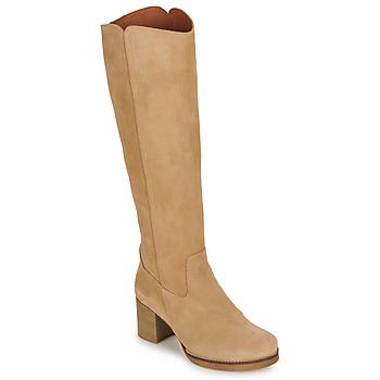 kengät Naiset Saappaat Casual Attitude HAPI Beige