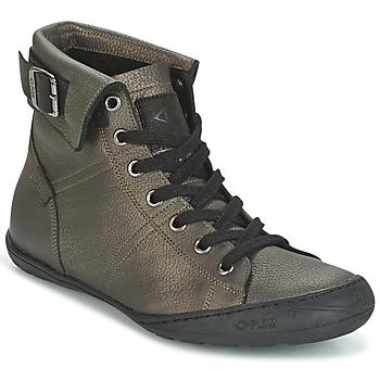 kengät Naiset Korkeavartiset tennarit PLDM by Palladium GLADYS DST Grey / Gold
