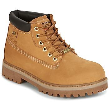 kengät Miehet Bootsit Skechers SERGEANTS CAMEL
