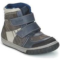 kengät Pojat Talvisaappaat Kickers SITROUILLE Grey / Fonce / Blue