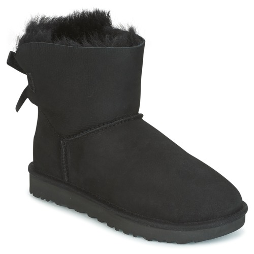 kengät Naiset Bootsit UGG MINI BAILEY BOW II Black