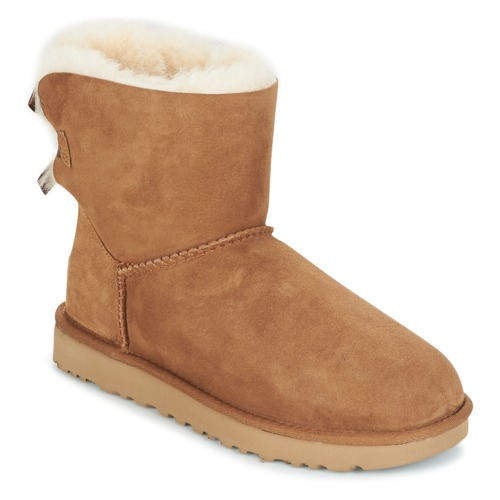 kengät Naiset Bootsit UGG MINI BAILEY BOW II Camel