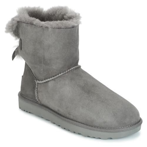 kengät Naiset Bootsit UGG MINI BAILEY BOW II Grey