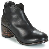 kengät Naiset Bootsit Moma CUSNA NERO/ TALON TACO MIX, ARRIRE AFRICA Black / Argenté