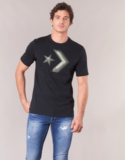 vaatteet Miehet Lyhythihainen t-paita Converse DIMENSIONAL LAYER STAR CHEVRON TEE Black