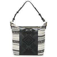 laukut Naiset Olkalaukut Desigual BOLS_LILA ASTÚN Black / Creme