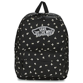laukut Naiset Reput Vans REALM BACKPACK Black / White