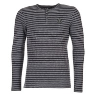vaatteet Miehet T-paidat pitkillä hihoilla Le Temps des Cerises ROGER Grey