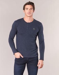 vaatteet Miehet T-paidat pitkillä hihoilla Le Temps des Cerises ROGER Laivastonsininen