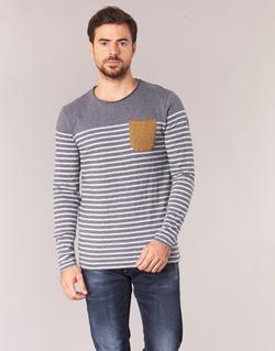 vaatteet Miehet T-paidat pitkillä hihoilla Le Temps des Cerises VINCENT Grey