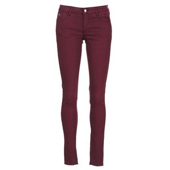 vaatteet Naiset Slim-farkut Le Temps des Cerises 316 Luumu
