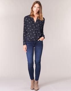 vaatteet Naiset Skinny-farkut Le Temps des Cerises ULTRAPOWER Blue