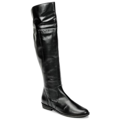 kengät Naiset Ylipolvensaappaat So Size HOLA Black