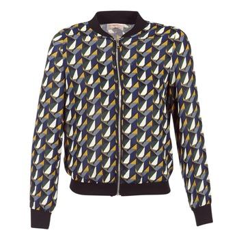 vaatteet Naiset Pusakka Moony Mood HARIO Black / Blue / Yellow
