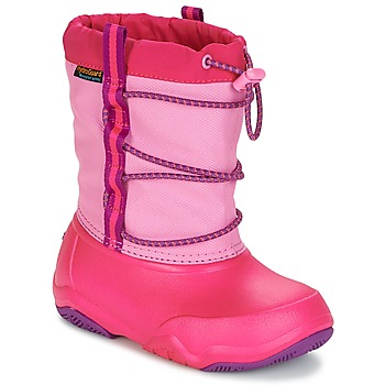 kengät Tytöt Talvisaappaat Crocs Swiftwater waterproof boot Pinkki