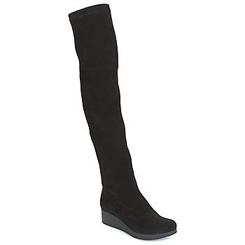kengät Naiset Ylipolvensaappaat Robert Clergerie Natun-VELOURS-STRETCH-NOIR Black