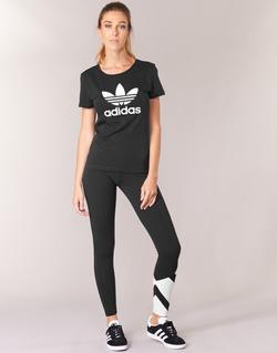 vaatteet Naiset Legginsit adidas Originals EQT LEGGINGS Black / White