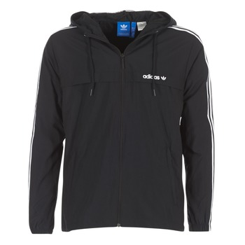 vaatteet Miehet Tuulitakit adidas Originals 3 STRIPED WB Black