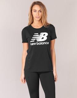 vaatteet Naiset Lyhythihainen t-paita New Balance NB LOGO T Black / White