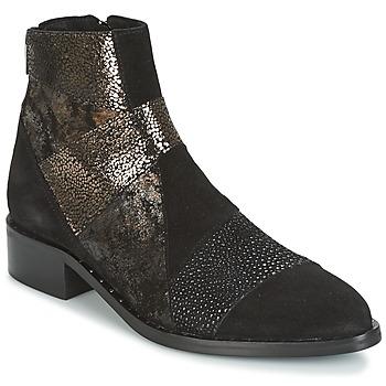 kengät Naiset Bootsit Philippe Morvan SILKO V1 CR VEL NOIR Musta