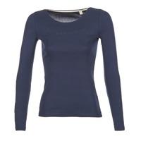 vaatteet Naiset T-paidat pitkillä hihoilla Esprit GIMUL Laivastonsininen
