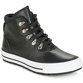 kengät Naiset Korkeavartiset tennarit Converse CHUCK TAYLOR ALL STAR EMBER BOOT SMOOTH LEATHER HI BLACK/BLACK/W Black / White