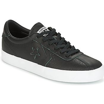kengät Naiset Matalavartiset tennarit Converse BREAKPOINT FOUNDATIONAL LEATHER OX BLACK/BLACK/WHITE Musta / Valkoinen