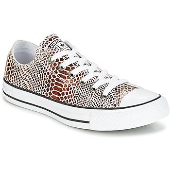 kengät Naiset Matalavartiset tennarit Converse CHUCK TAYLOR ALL STAR FASHION SNAKE OX BROWN/BLACK/WHITE Black / White