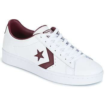 kengät Miehet Matalavartiset tennarit Converse PL 76 FOUNDATIONAL LEATHER WITH ELEVATED DETAILING OX WHITE/DEEP White / Bordeaux