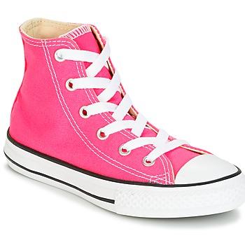 kengät Tytöt Korkeavartiset tennarit Converse CHUCK TAYLOR ALL STAR SEASONAL HI PINK POW Pink