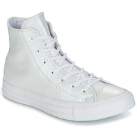 kengät Naiset Korkeavartiset tennarit Converse CHUCK TAYLOR ALL STAR IRIDESCENT LEATHER HI IRIDESCENT LEATHER H Valkoinen
