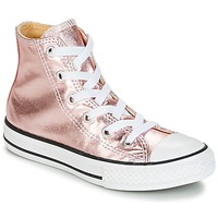 kengät Tytöt Korkeavartiset tennarit Converse CHUCK TAYLOR ALL STAR METALLIC SEASONAL HI METALLIC SEASONAL HI Pink / White / Black