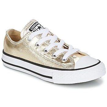 kengät Tytöt Matalavartiset tennarit Converse CHUCK TAYLOR ALL STAR Kulta
