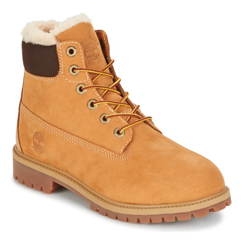 kengät Lapset Bootsit Timberland 6 IN PRMWPSHEARLING LINED Brown