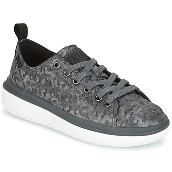 kengät Naiset Matalavartiset tennarit Palladium CRUSHION LACE CAMO Black / Grey