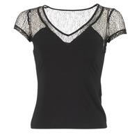 vaatteet Naiset Lyhythihainen t-paita Morgan DSTAF Black