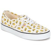 kengät Matalavartiset tennarit Vans AUTHENTIC SNOOPY White / Yellow