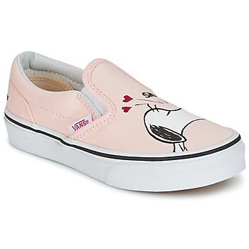 kengät Tytöt Tennarit Vans TD CLASSIC SLIP-ON SNOOPY Pink