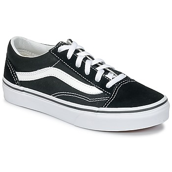 kengät Lapset Matalavartiset tennarit Vans OLD SKOOL V Black / White