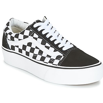 kengät Naiset Matalavartiset tennarit Vans UA OLD SKOOL PLATFORM Black / White