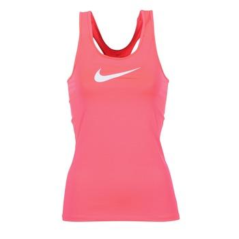 vaatteet Naiset Hihattomat paidat / Hihattomat t-paidat Nike NIKE PRO COOL TANK Pink / White