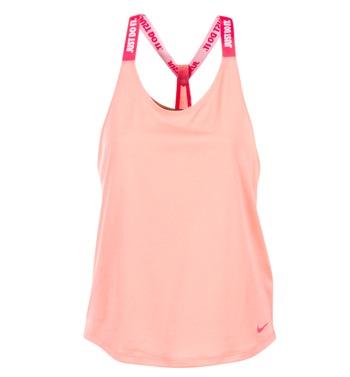 vaatteet Naiset Hihattomat paidat / Hihattomat t-paidat Nike NIKE DRY TANK ELASTIKA Pink / Red