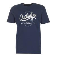 vaatteet Miehet Lyhythihainen t-paita Quiksilver CLATESEATALES Laivastonsininen