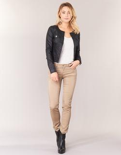 vaatteet Naiset 5-taskuiset housut Les P'tites Bombes BEMBRELA Beige