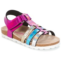 kengät Tytöt Sandaalit ja avokkaat Les Tropéziennes par M Belarbi POLINA Pink / Blue / Silver