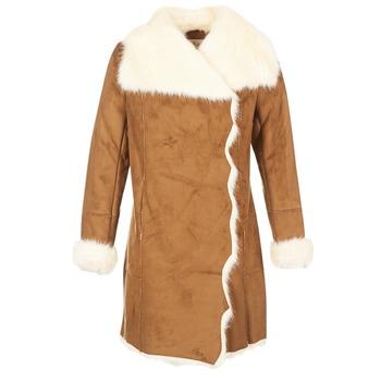 vaatteet Naiset Paksu takki Derhy RADEAU Camel