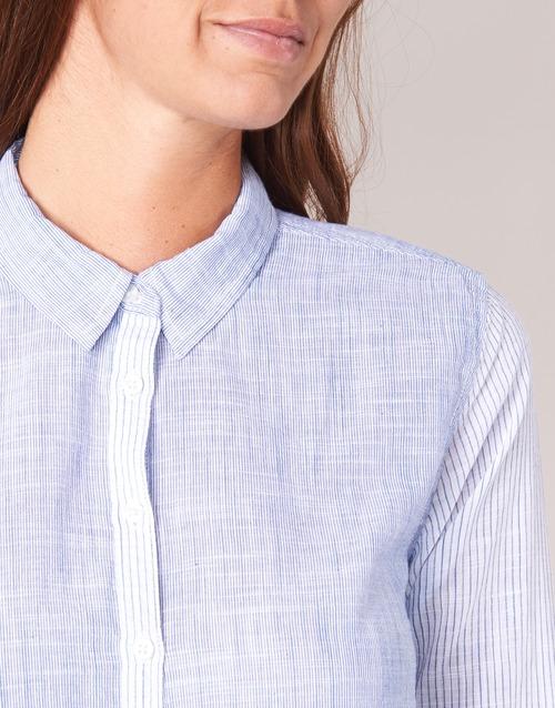 Pepe Jeans Cris Blue - Ilmainen Toimitus- Vaatteet Paitapusero / Kauluspaita Naiset 50