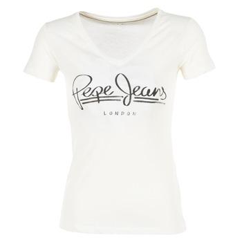 vaatteet Naiset Lyhythihainen t-paita Pepe jeans BRENDA White