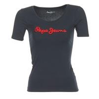 vaatteet Naiset Lyhythihainen t-paita Pepe jeans MARIA Black
