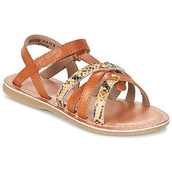 kengät Tytöt Sandaalit ja avokkaat Kickers FARAH Camel